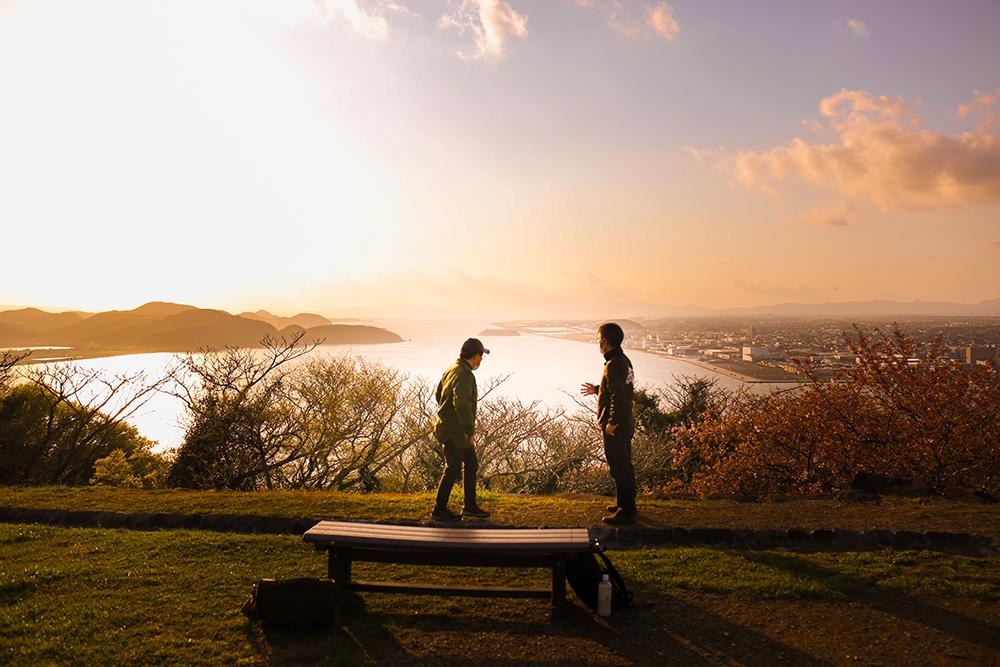 米子城から見える錦の海
